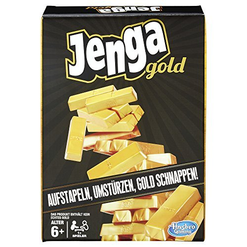 Hasbro Spiele B7430EU4 - Jenga Gold, Kinderspiel