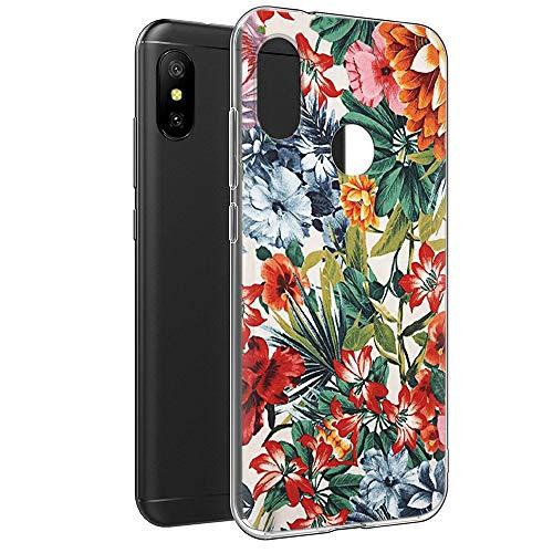 Funda Xiaomi Mi A2 Lite, Eouine Cárcasa Silicona 3D Transparente con Dibujos Diseño [Antigolpes] de Protector Fundas para Movil Xiaomi Mi A2 Lite/Xiaomi Redmi 6Pro - 5,84 Pulgadas (Flor Colorida)