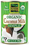 Native Forest Simple Organic Unsweetened Coconut Milk, 13.5 Fl. Oz. (Pack Of 3)
