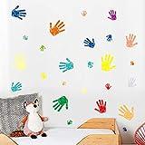 Etiquetas de pared de vinilo con estampado de palma calcomanías de pared divertidas habitación de niños dormitorio guardería decoración del hogar