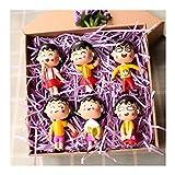 STEPHI Cosplay Japanischer Anime Chibi Maruko Chan PVC Actionfiguren Model Doll Toys Kinder-A-6Set-Boxed