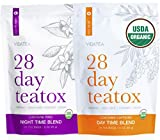 Vida Essentials Día y noche Detox Tea - Teatox (56 bolsitas de té) - té de la pérdida de peso antioxidante orgánico, a base de plantas de cuerpo limpieza de desintoxicación