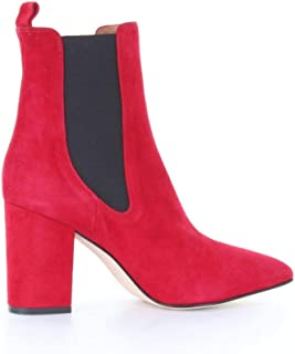 PARIS TEXAS Luxury Fashion Womens PX125CAMOSCIOROSSO Red Ankle Boots   Season Outlet