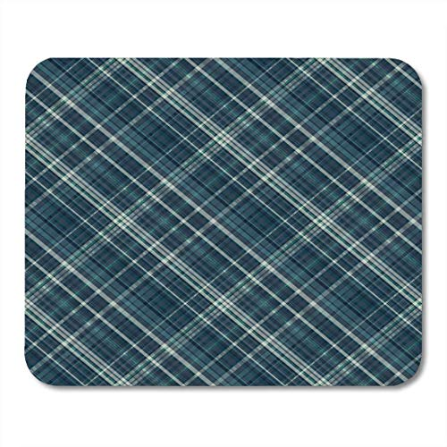 AOHOT Mauspads Navy Masculine Thin Lined Plaid Pattern Lot of Shades Abstract Retro Mouse pad 9.5