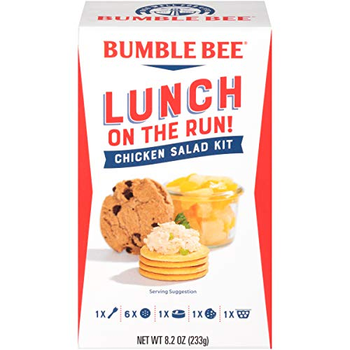 BUMBLE BEE Lunch on The Run! Chicken Salad Lunch Kit, High Protein Lunch Kit, Canned Chicken Salad (packaging may Vary), 8.2 Ounce (Pack of 4)
