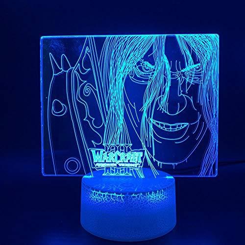 Nachtlicht 3D-Nachtlicht Illusion Light Bunte Touch USB Kreative Blizzard Entertainment Stereo...