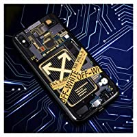 グロー スマホカバー IPhone 12携帯電話ケース、スマート発光Apple X/XS着信、点滅ライト、iPhone 12 Pro/iPhone 12 Pro Max、発光ガラス素材音声制御すべて込みの,F-IphoneXR