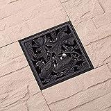 LIXUDECO los desagües de Piso Houmaid Baño Negro Antigua Plaza del Espesamiento del Pato de mandarín Piso de Drenaje latón Antiguo colador Drenajes