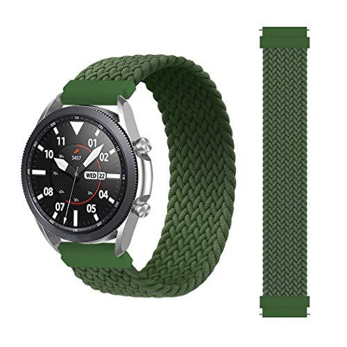 Compatible con Galaxy Watch 3, 46 mm, 42 mm, Active 2, Gear S3, correa de nailon de 20 mm y 22 mm.