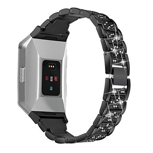 Für Fitbit Ionic Träger, angolf Fitbit Ionic Edelstahl Strass Band Bling Glitzer Smart Watch verstellbar Ersatz Band Armband Armband Schnalle Schließe für Fitbit Ionic Fitness Zubehör
