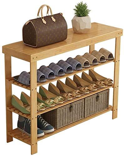 3 Niveles de Zapato Estante sólido Madera nanzhu gabinete de Zapatos al Almacenamiento economía casera Dormitorio Dormitorio Conjunto Sala de Estar zapatería-90 cm Incomparable