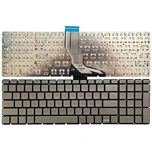 YUHUAI Reemplazo de Laptop Teclado Adecuado para HP Pavilion 250 G6 255 G6 256 G6 258 G6 TPN-C129 TPN-C130 Diseño Español (Plata)