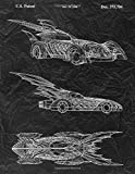 Batmobile Notebook: Batman & Robin Batmobile Blueprint Journal Diary,...