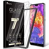 TAURI [3 Stück] Schutzfolie für Huawei P20 Pro Panzerglas, P20 Pro Panzerglasfolie [Alignment Frame] [Anti-Kratzen/Öl/Bläschen] HD Klar Glas Bildschirmschutzfolie (Verpackung kann variieren)