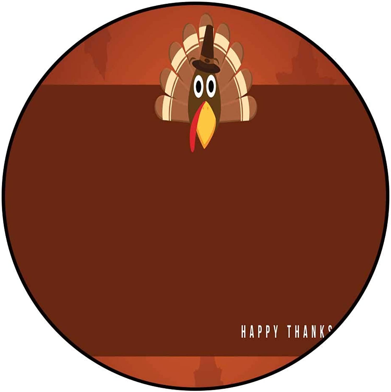 Hua Wu Chou Round Chair matround Welcome mat D4' 1.2m Happy Thanksgiving Greeting Card Collection Vector Illustration