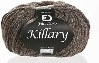 Killary tweed, Ferner wolle, merino cashmere tweed, dark brown 5, bulky yarn, 50 grams 104 yrds