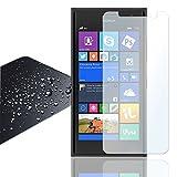 Eximmobile Panzerfolie für Nokia Lumia 730 Echt Glasfolie (klar) für besten Bildschirmschutz Selbstklebende Bildschirmschutzfolie 9h Glasfolie rückstandslos entfernbar Schutzfolie Folie