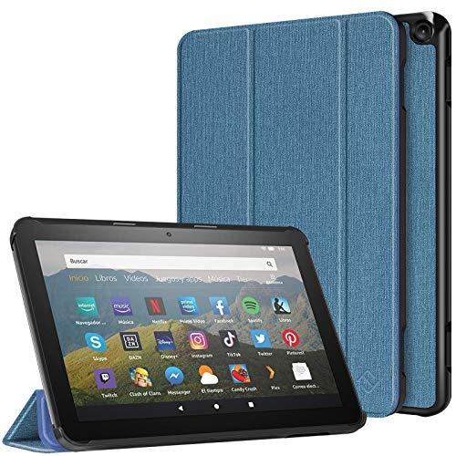 Fintie Hülle Kompatibel mit Das Neue Fire HD 8 Tablet & Fire HD 8 Plus Tablet (10. Generation, 2020) - Superdünne Lightweight Schutzhülle Tasche mit Auto Schlaf/Wach Funktion, Dunkelblau