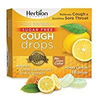 Cough Drops - All Natural - Honey Lemon - 18 Drops by Herbion Naturals