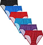 Careplus Girls' Cotton Panties (Pack of 6) (811,Mx,13-14,Yr-6pc_Kg,Pnty-Ach_Multicolor_13-14 Years)