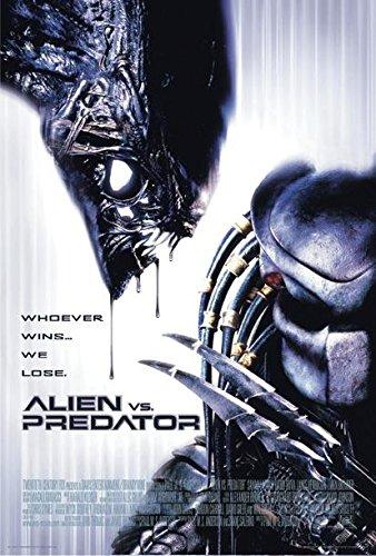 Póster Alien vs Predator Whoever Wins, We Lose (68,5cm x 101,5cm) + 2 Marcos Negros para póster con suspención