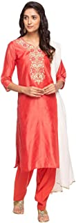 STOP by Shoppers Stop Womens Notched Collar Embroidered Salwar Suit
