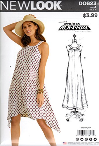 Simplicity D0623 Project Runway Dress Misses' Six Sizes in One Sewing Pattern