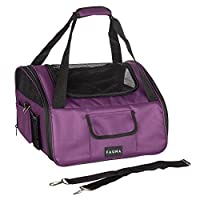 Can be used as either a car seat booster or a carrier Folds away into a bag for easy storage Small inner leash attaches to collar to prevent pet climbing out Pockets for personal belongings, treats and toys Removable shoulder strap, hard wearing rubb...