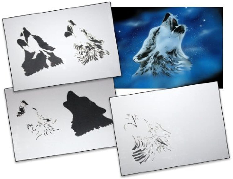 Step by Step Airbrush Stencil Template Template Template AS-001 M ca. 5,11 x 3,95 by UMR-Design B01KBC2A7W     | Schön  3fe4c1