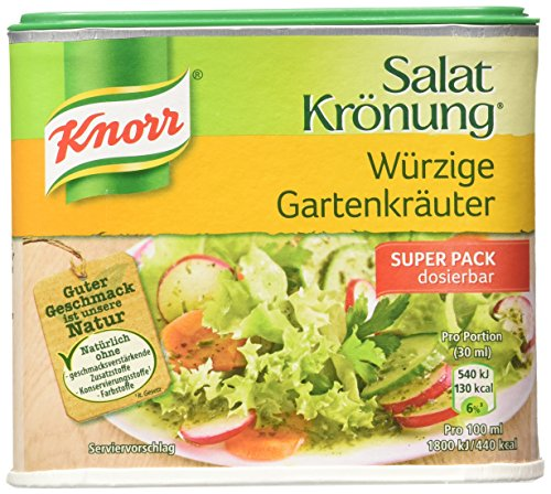Knorr Salat Kroenung GartenKraueter (Garden Herbs Vinaigrette Mix) -Container for 2.1 L