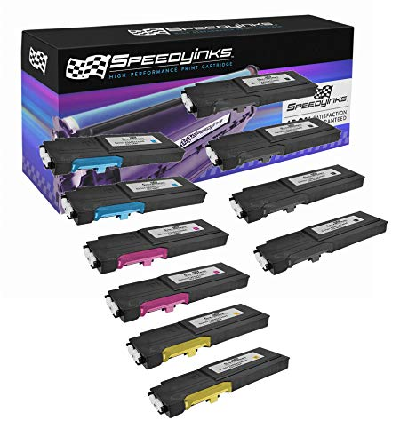 Speedy Inks Compatible Toner Cartridge Replacement for Dell C2660 C2660dn High Yield (4 Black, 2 Cyan, 2 Magenta, 2 Yellow, 10-Pack)
