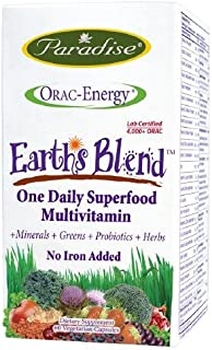Earth's Blend One Daily Superfood Multivitamin No Iron (60 Vegetarian Capsules)