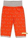 loud + proud Unisex Baby Hose Sweathose Druck, Orange (Sunrise Su), 74/80 (Herstellergröße: 74/80)
