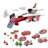 WXZQ Historia Musical Simulación de Pista Inercia Avión de Juguete para niños Avión de pasajeros de Gran tamaño Avión de pasajeros para niños Coche de Juguete Juego de camión de Bomberos Multicolor
