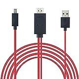 REY Cable MHL Micro USB a HDMI y USB, HDTV, del Móvil a la TV de Alta Definición