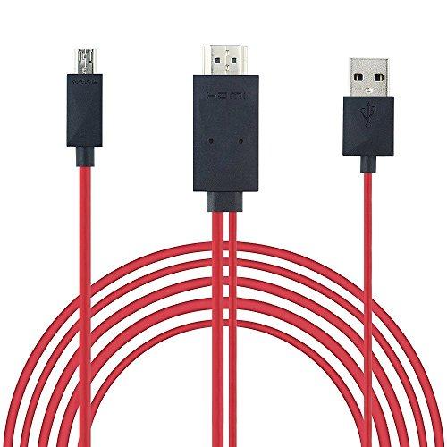REY Cable MHL Micro USB a HDMI y USB, HDTV, del Móvil...