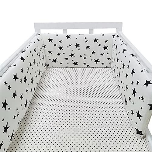 happygirr 200 x 30 cm para cuna, mesita de noche, protector de cama, 100 algodón, barandilla y parachoques, 1 pieza