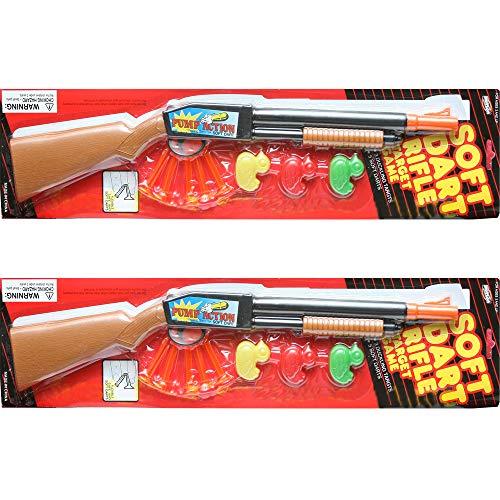 19 Inches Pump Action Long Barrel Shotgun Soft Dart Shooter Rifle Toy Gun (Gift idea Item) 2-Pack Deal