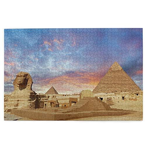 MZTYPLK Rompecabezas de 1000 Piezas,Rompecabezas de imágenes,Egipto,Juguetes Puzzle for Adultos niños Interesante Juego Juguete Decoración para El Hogar