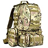 CVLIFE Military Tactical Backpack Survival Army Rucksack Assault Pack Molle Bag