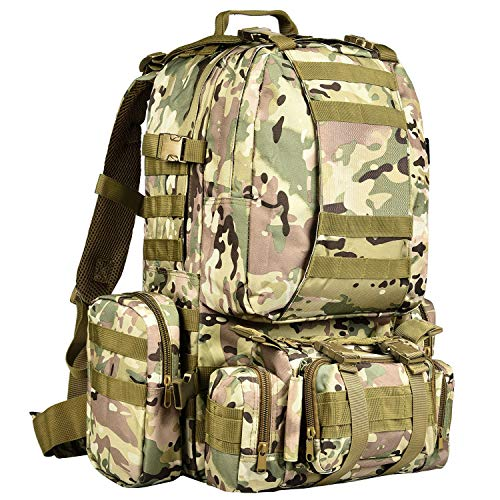 CVLIFE Military Tactical Backpack Survival Army Rucksack Assault Pack Molle...