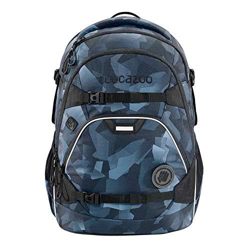 """coocazoo Schulrucksack ScaleRale """"Grey Rocks"""", grau-blau, ergonomischer Tornister, höhenverstellbar mit Brustgurt und Hüftgurt für Jungs ab der 5. Klasse, 30 Liter"""
