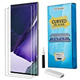 [2 Pack] Venoro Galaxy Note 20 Ultra 5G Screen Protector, Full 3D Curved Edge Tempered Glass Ultrasonic Fingerprint Unlock for Samsung Galaxy Note 20 Ultra 6.9inch