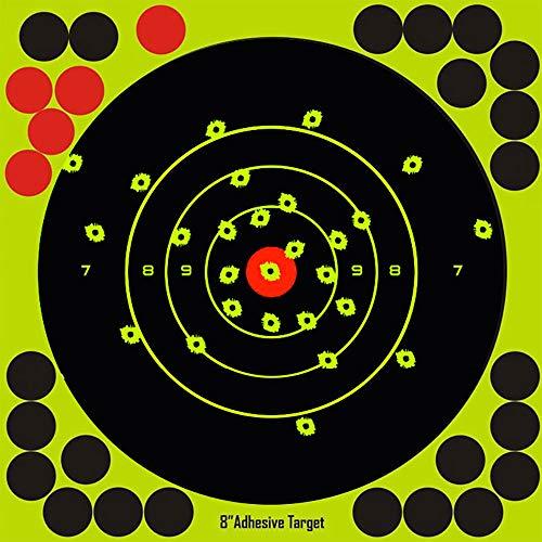 WestHunter 8 inch Self Adhesive Shooting Targets,Stick & Splatter Reactive,for Gun - Rifle - Pistol - Airsoft - BB Gun - Pellet Gun - Air Rifle(20PCS)