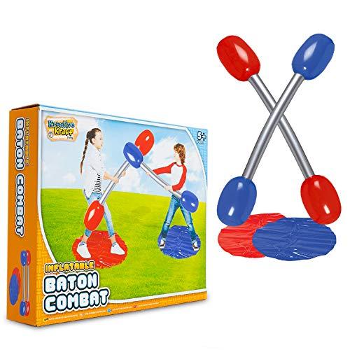 KreativeKraft Gioco da Giardino per Bambini - Gioco di Gladiatore Gonfiabile | Gioco da Spiaggia, Piscina | Giochi per Feste di Compleanno per Bambini | Idee Regalo 3-12+Anni