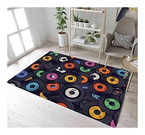 SADDPA Discos de Vinilo Divertidos tapetes y alfombras for la habitación del bebé Niños Home Living Antideslizante Dormitorio Pasillo Cocina Yoga de la Puerta del Piso alfombras de baño