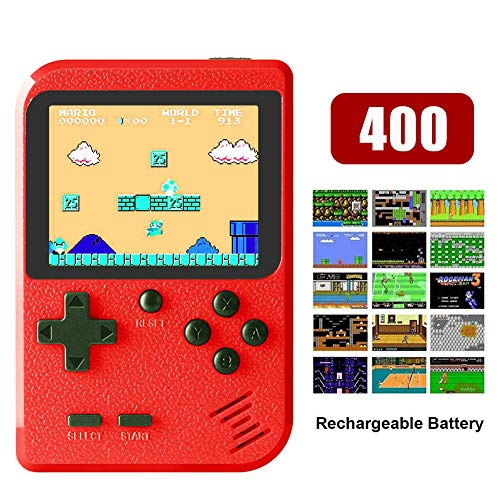 THCL Handheld-Mini-Spielekonsole Eingebaute 400 NES FC-Spiele für Klassische Spiele Unterstützung der TV-Ausgabe