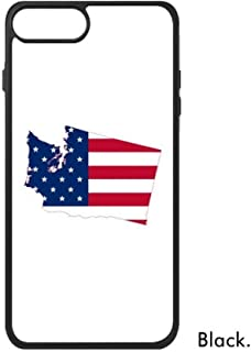 cold master DIY lab Washington America Map Stars Stripes Flag For iPhone 8/8 Plus Cases Phonecase Apple Cover Case Gift iphone 8 plus case