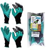 Gants de jardinage (2 paires) pour Creuser et Plantation, Eiito gants de jardin gants pour ronces Meilleur cadeau pour Jardiniers gant de sécurité travail