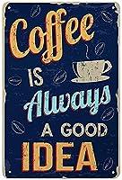 レトロおかしい金属錫サイン12x 16インチ(30 * 40 cm)コーヒーデザート飲み物お茶リキ看板警告通知パブクラブカフェホームレストラン壁の装飾アートサインポスター(jgil-1-126)